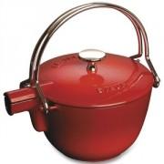 Чайник чугунный 1,0 л, цвет красный