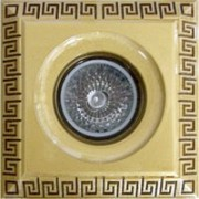 Галогеновый светильник. Цвет: золото