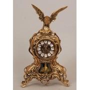 Часы с орлом с маятником золотистый 35х21 см.