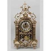 Часы прямоуголн. с маятником золотистый