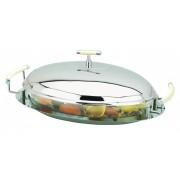 Блюдо с крышкой 46х27х16 см овальное Перле