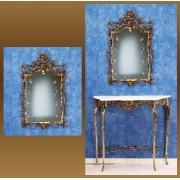 Зеркало золотистый 95х57 см.
