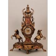 Часы с лошадьми с роз. вставками 55х40см.