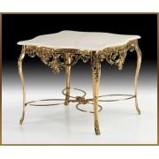 Стол с резной столешн. цвет - золото 78х98х96см