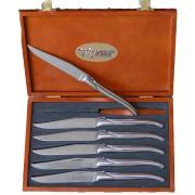 Набор из 6 столовых ножей/Рукоятка -на выбор олива, можжевельник