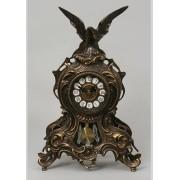 Часы с завитком, маятником каштан 38х25 см.