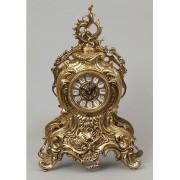 Часы с завитком золотистый 38х25 см.