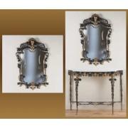 Зеркало синий 99х61 см.