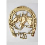 Ключница - подкова 3 кр. золотистый 17х14 см.