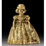 Колокольчик дама золотой 8 см