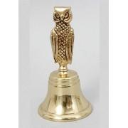 Колокольчик - сова золотистый 13х6,5 см.