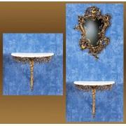 Консоль золотистый 49х54х27 см.