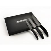 Набор из 3 керамических ножей с лезвиями из черной керамики